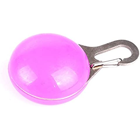Pendenti luminosi collare cani ciondoli luminoso completo di batterie di colore rosa - Impermeabile Collare Per Il Controllo