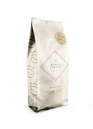 King's Coffee - White Edition Espresso - 100% Arabica Blend - Kaffee-Bohnen für Vollautomaten - 1KG Espresso-Bohnen