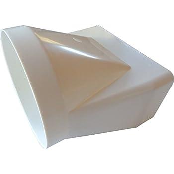 bergangsst ck von rund auf eckig in wei 150er abluftsystem 150 mm durchmesser f r rundrohr und. Black Bedroom Furniture Sets. Home Design Ideas