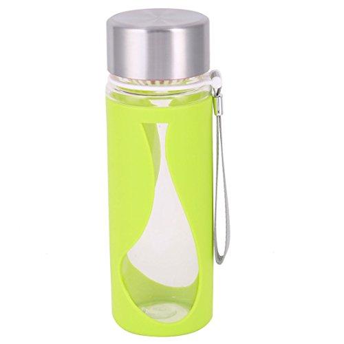 En dehors ménage amovible Plastique coupe eau à boire thé Vert Bouteille 500ml