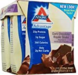 Best Atkins Loss Weight Proteins - Atkins Advantage Ready To Drink Shake - Dark Review