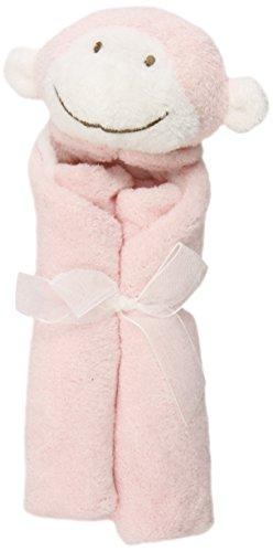 Angel Dear Petite couverture avec doudou en forme de singe (Rose)