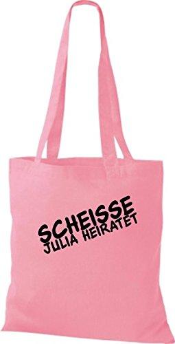 Shirtstown Stoffbeutel JGA Scheisse ... Heiratet viele Farben rosa