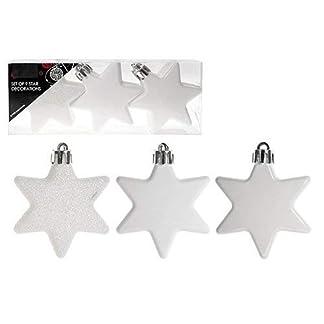 Packung-mit-9-White-Christmas-Star-Baum-Dekorationen-Kugeln-Matt-glnzend-Glitter-Weihnachtsschmuck