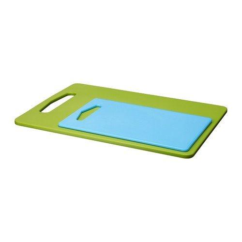 confronta il prezzo online IKEA LEGITIM-bianco – 34 x 25 cm, GREEN/BLUE SET OF 2, Chopping Board