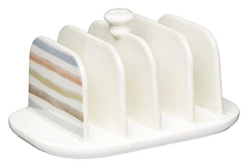 Kitchen Craft Toastständer für 4 Stück aus Keramik, Mehrfarbig 12.5 x 10 x 9 cm