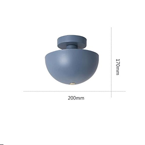 GAODUZI Schlafzimmer Deckenleuchte Macaron Küche Balkon Lampe Modern Minimalist Kreisförmige Kreative Persönlichkeit Kleine Deckenleuchte Farbe Macaron E27 ( Farbe : Blau ) (Kreisförmige Lampenschirme)