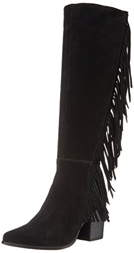 Steve Madden Cacos Tall Boot Black Suede LFPnlS