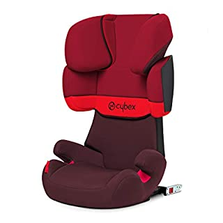 Cybex - Silla de coche grupo 2/3 Solution X-Fix, para coches con y sin ISOFIX, 15-36kg, desde los 3 hasta los 12 años aprox., Rojo (Rumba Red) (B00DSKSGU0) | Amazon Products