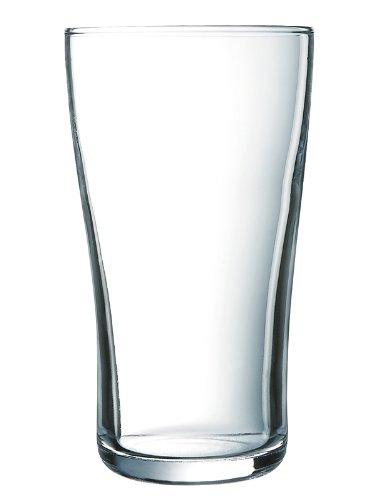 Arcoroc Ultimate Pint Becher Bierglas 570ml, ohne Füllstrich, 6 Stück