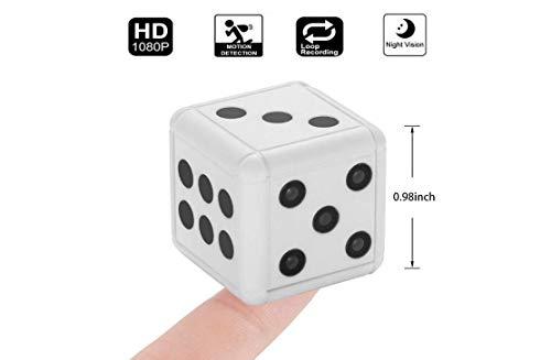 Mini Würfel Sport kostenlose Videokamera, 1080P Sport DV Videorekorder, Kleine Nachtsicht-Bewegungserkennung, kompakter Innen/Außen Camcorder