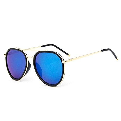 Z-P Unisex Classic Retro Fashion Wayfarer Bright Color Film Round Lens Reflective UV400 Sunglasses 60MM