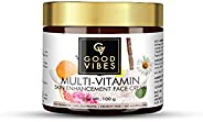 Good Vibes Multi Vitamin Skin Enhancement Face Cream - 100 g - Brightening and Nourishing for Dull and Damaged