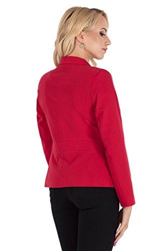 Clea Klassisches Jackett Blazer mit einem Knopf Rot