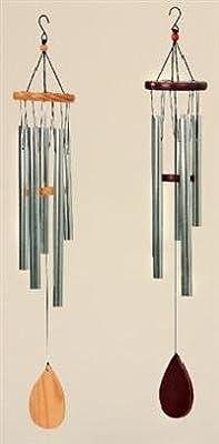 Klangspiel 5 Klangröhren 63cm Windspiel braun oder natur Mobile