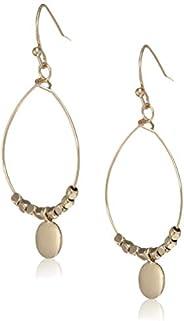 Accessorize London Mini Circle Beadedhoop Earrings Drop Earrings for Women (Golden) (MN-78497481001)
