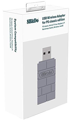 8Bitdo USB Wireless Adapter for PS Classic Edition/Windows/Mac/Raspberry Pi/Switch [ ]