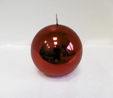 Candle Metallica Red Sphere mm. 100 Couleur Rouge