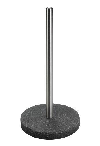 Wenko 23116100 Küchenrollenhalter - Polyacryl / Edelstahl rostfrei, 16 x 33 x 2 cm, grau / transparent