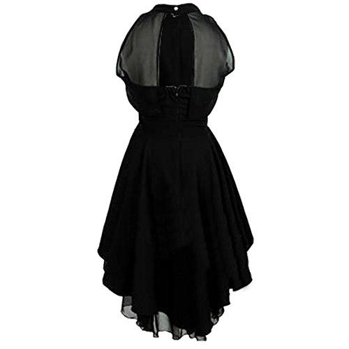 Partiss Sexy soirée en mousseline Dreses en maille Noir - Noir