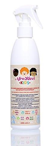 afroricci Kids Spray Bouteille Hydratant Quotidien et démêlant à l 'extrait de pamplemousse–Daily Hair Spritz with Grapefruit Extract 250ml