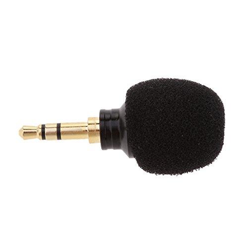 Universale mini microfono a condensatore 3.5mm jack per registrazione amplificatori vocali computer portatili - nero, spina stereo 3.5mm