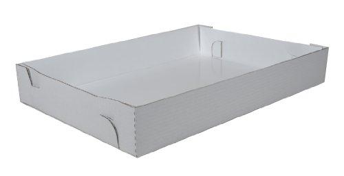 Southern Champion Tablett 1190Bright Weiß Wellig Fett ohne Fenster Blatt Kuchen Box unten, 66cm Länge x 45,7cm Breite x 10,2cm Höhe (Fall 25Stück) (Fenster-kuchen-boxen)