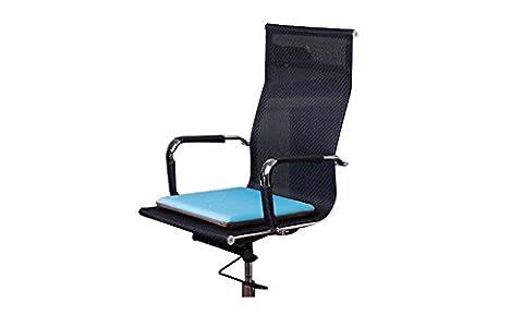 vanra Coussin de siège en mousse visco-élastique massif Siège Reste Coussin de chaise avec attaches, lavable en machine, Brown + Blue, 17.8