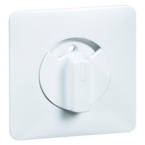 Peha 00133211 Standart Zentralplatte mit Knebel, für Rolladen-Drehtaster, 3-Studen Schalter und Zeitschaltuhren, reinweiß -