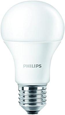 Philips - Bombilla LED, luz blanca cálida, casquillo E27