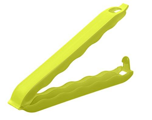 Rotho 6686905070 Verschlussclips Onda gross aus Kunststoff PP, 10er Set, für luftdichtes Aufbewahren und Einfrieren, Länge 10 cm, grün Verschlussklemme, Plastik, Lime Grün, 15 x 12 x 2 cm (Clip-verschluss)