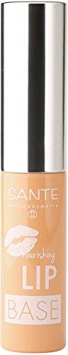 Sante Cosmetici naturali Nutriente Lip base, fondo, Idratante Labbra allungato Durata, vegan, 2X 5ml Confezione Doppia