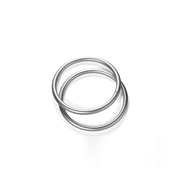 """Topind 3"""" Large Size Aluminium Baby Sling Rings for Baby Carriers & Slings of 2 pcs Silver TOPIND Great replacement aluminium rings for your baby sling rings Get a much more intimate way to touch your baby You can choose the color you like 3"""