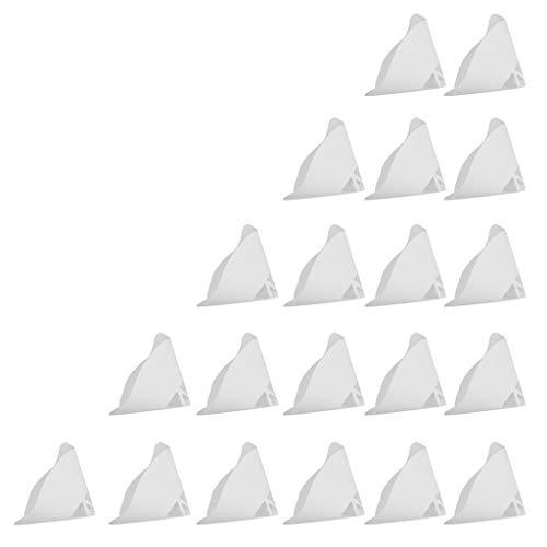 F Fityle 3D-Drucker Zubehör Filtertrichter Photopolymer Filter Trichter 3D Drucker Verbrauchsmaterialien (20 Stücke, Weiß)