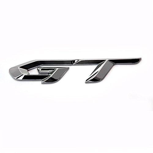 Preisvergleich Produktbild detailpart GT 3D Metall Chrom Typ Emblem Aufkleber für alle Auto