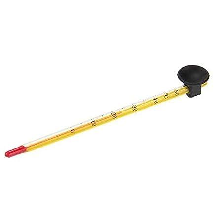 RRunzfon Thermometer aus Glas für Aquarium mit Saugnapf 14 cm