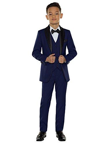 Paisley of London Jungen Anzug * Gr. 8 Jahre, blau -