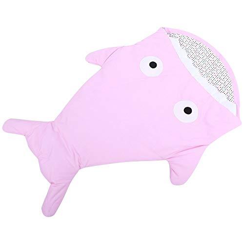 Roochl - sacco nanna per neonati, a forma di squalo, per evitare morsi di neonati, versatile e creativo, anti-ribaltamento, sacco a pelo per la primavera, l'autunno e l'inverno rosa rosa neonato
