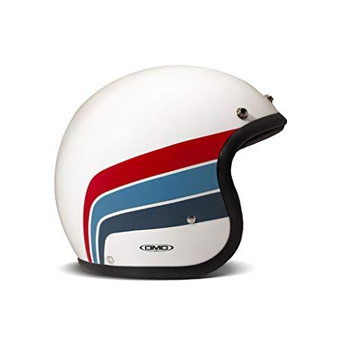 DMD Helm Vintage Artemis weiß blau rot, L