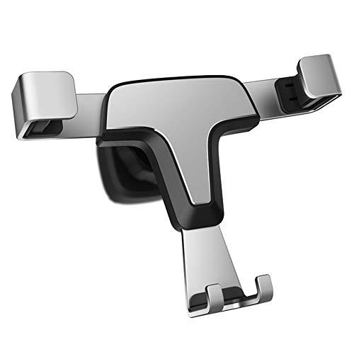 Halter Schwerkraft kompatibler Autotelefonhalter, Armaturenbrett Windschutzscheibe Universal Handy Cradle Mount mit starkem Sauger Mehr,Silver -