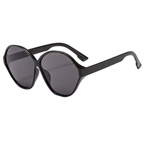 fazry Männer Frauen ovalen Rahmen Retro Fashion Sonnenbrillen Brillen(A)