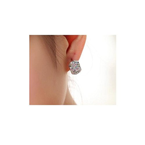 Erica Boucles d'oreilles mousseux cristal autrichien géométrique pour les femmes blue