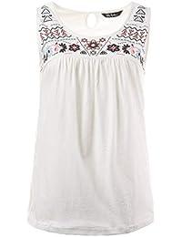 84d687f26bb9bb Ulla Popken Damen große Größen bis 56 | Top | Longshirt aus 100% Baumwolle  | Shirt mit Rundhals & Ethno Muster | A…