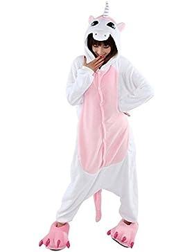 Tier Pyjama Einhorn Kostüm Karto