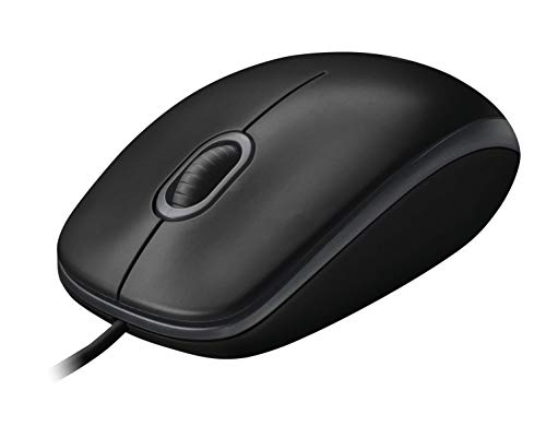 Logitech B100 Optical USB Wired Maus, schwarz