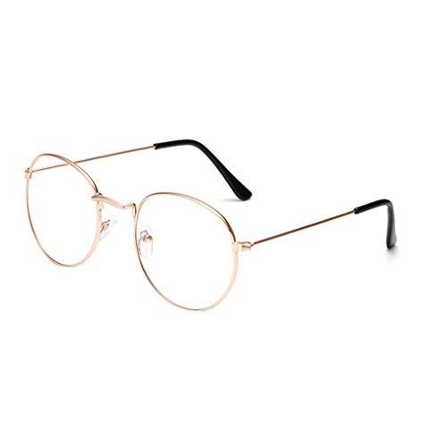 Junecat Rund Vintage Retro Frauen Männer Unisex Brille Brillen Feld Leichtgewichtler Alloy Brillen