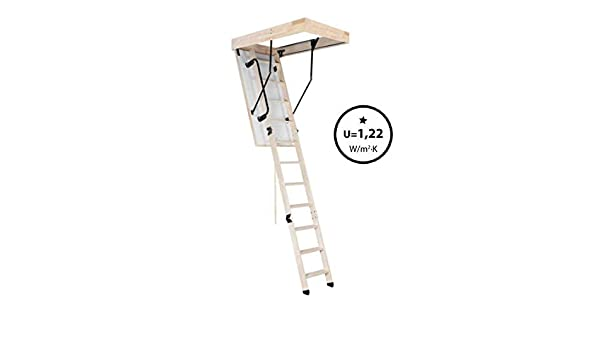 Oman Bodentreppe Scherentreppe THERMO 70 x 120 aus Holz