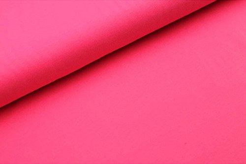 Qualitativ hochwertiger Jerseystoff in Neon Pink als Meterware zum Nähen von Baby, Kinder- und Damenkleidung, 50 cm