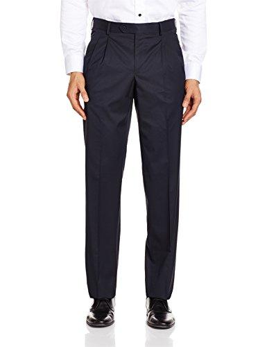 Van Heusen Men's Formal Trousers (8907271425506_VHTP1M03792_32W X 32L_Navy Blue)