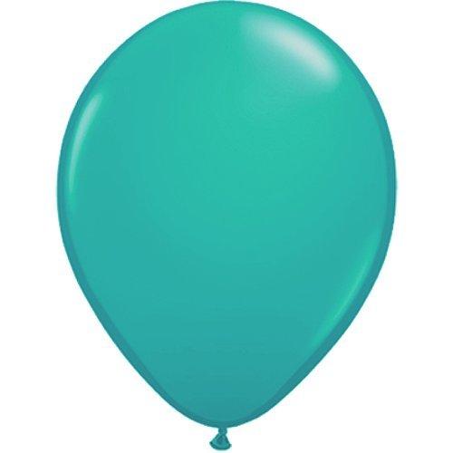 partydiscount24 10 x Luftballons Ø 30 cm | Freie Farbauswahl | 23 Ballon Farben (Türkis) (Weiß Und Türkis)